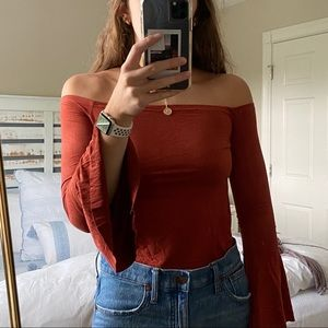 Cropped Suede Top